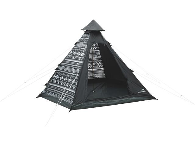 Easy Camp Tipi Tribal Colour Tent black & white